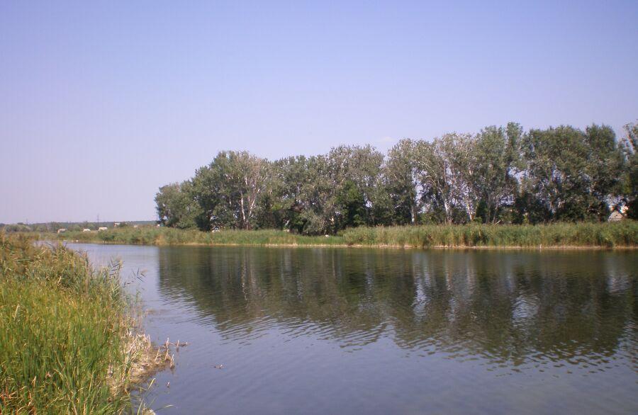 озеро недалеко от старта