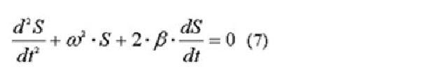 Дифференциальное уравнение свободных гармонических затухающих колебаний