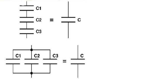 Последовательное и параллельное соединение конденсаторов