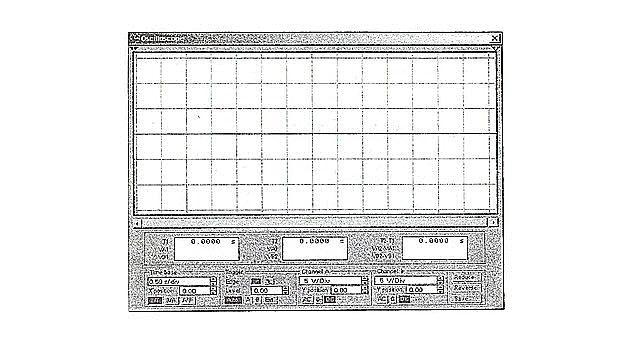 Увеличинный экран осциллографа